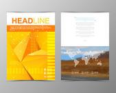 Geometric brochure template. Map. — Wektor stockowy