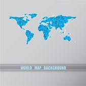 World triangular blue map. — Stock Vector