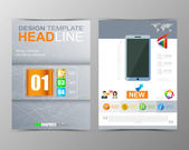 Technology brochure — Stock Vector
