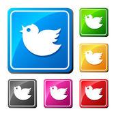 Trendy square  birds. — Vector de stock