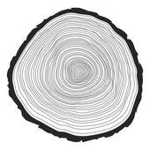 Tree rings — Stock Vector