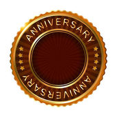 Empty anniversary golden label. — Stock Vector