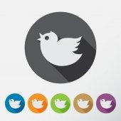 Trendy round  birds. — Vector de stock