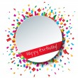 Empty Happy Birthday background — Stock Vector #61576467