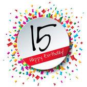 15 Happy Birthday background — Stock Vector