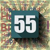 55 Happy Birthday background — Stock Vector