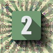 2 Happy Birthday background — Vettoriale Stock