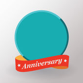 Empty Anniversary label — Stock Vector