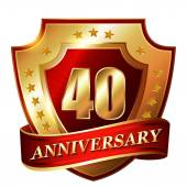 40 Anniversary golden label — 图库矢量图片