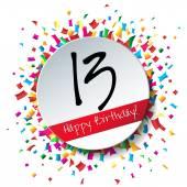 13 Happy Birthday background — Stock Vector