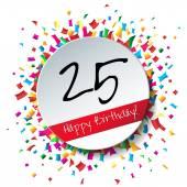 25 Happy Birthday background — Cтоковый вектор