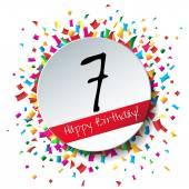 7 Happy Birthday background — Stock Vector