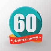 60 Anniversary label — Stock Vector