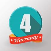 4 Warranty label — Stock Vector