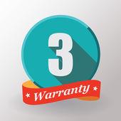 3 Warranty label — Stock Vector