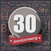 30 Happy Birthday Anniversary — Stock Vector
