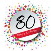 80 Happy Birthday background — Stockvektor