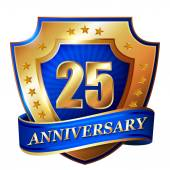 25 Anniversary golden label — 图库矢量图片