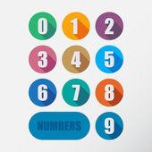Set di numeri — Vettoriale Stock