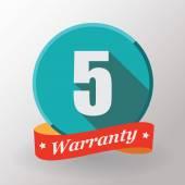 5 Warranty label — Stock Vector