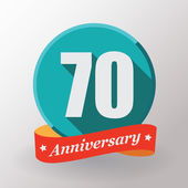 70 Anniversary label — Stock Vector