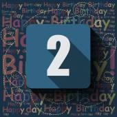 2 Happy Birthday background — Stock Vector