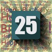 25 Happy Birthday background — 图库矢量图片