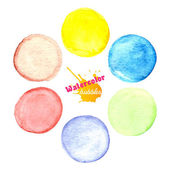 Colorful watercolor paint circles — Stock Vector