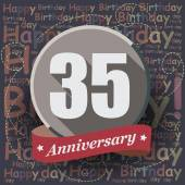 35 Happy Birthday Anniversary — Stock Vector