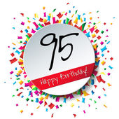 95 Happy Birthday background — Stock Vector
