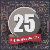 25 Happy Birthday Anniversary — Stock Vector