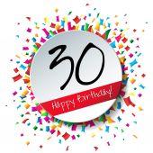 30 Happy Birthday background — Stock Vector