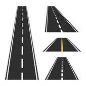 Empty road set — Stock Vector