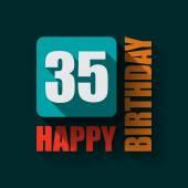 35 Happy Birthday background — Stock Vector