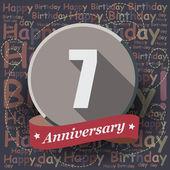 7 Happy Birthday Anniversary — Stock Vector