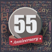 55 Happy Birthday Anniversary — Stock Vector