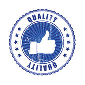 Approved Quality Stamp. — Stock Vector