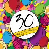 30  Happy Birthday background — ストックベクタ