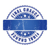 Final Chance Stamp. — Stock Vector