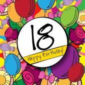 18 Happy Birthday background — Stock Vector