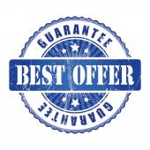 Best Offer Guarantee Stamp. — Stock Vector