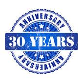 30 Years anniversary stamp. — Stock Vector