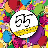 55  Happy Birthday background — Vector de stock