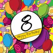 8 Happy Birthday background — Stock Vector