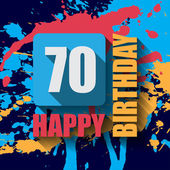 70 Happy Birthday background — Stock Vector