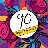 90 Happy Birthday background — Vetor de Stock