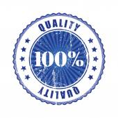 100 percent Quality Stamp. — Stock Vector