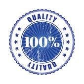 100 procent kvalitetsstämpel. — Stockvektor