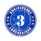 3 Years anniversary stamp. — Stock Vector