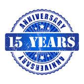 15 Years anniversary stamp. — Stock Vector